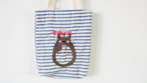 Totoro rainy day tote bag by MEMOSEN on Blisby