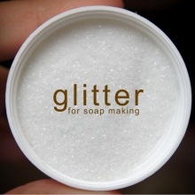Cosmetic white glitter for soap making at Blisby