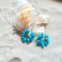 Circle Turquoise Earring at Blisby