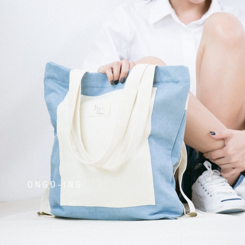 Sky Blue Jean, Totepack large image 4 by Ongoingtote