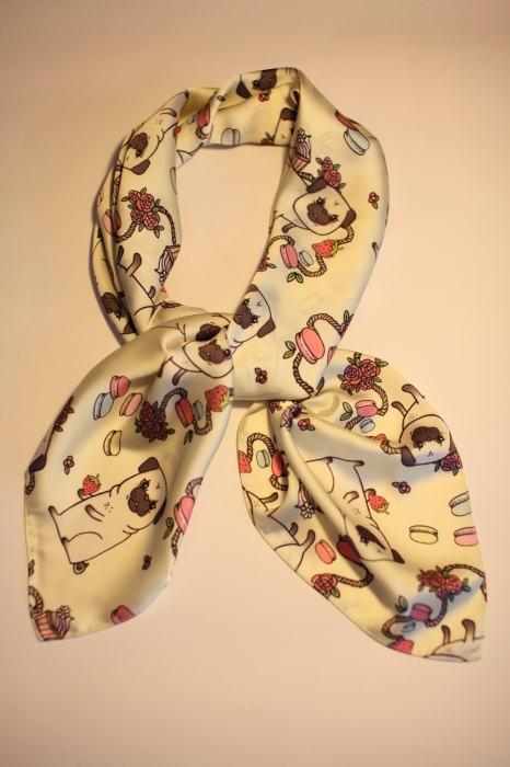 Cute pug scarf (Silk satin) large image 0 by sissyyourbestfriend