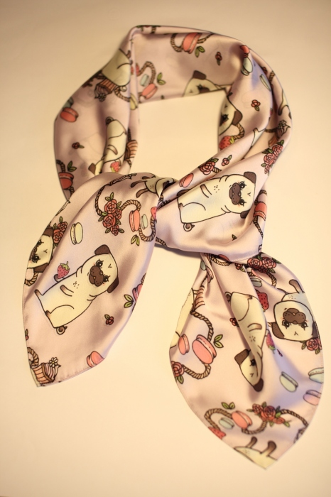Cute pug scarf (Silk satin) large image 1 by sissyyourbestfriend