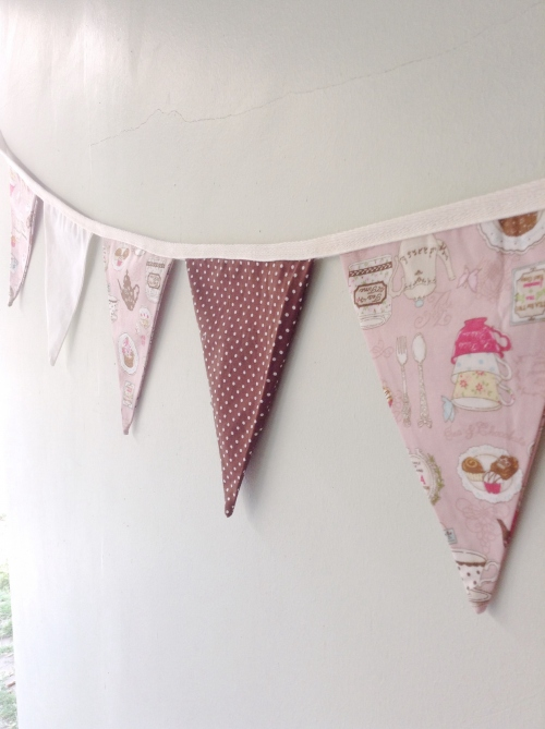 Flags Bunting {Afternoon tea / pink} large image 1 by HandmadeMania