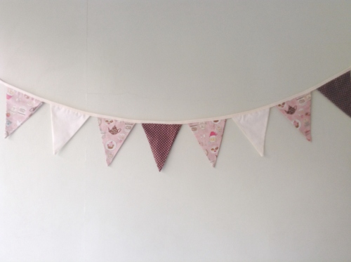 Flags Bunting {Afternoon tea / pink} large image 2 by HandmadeMania
