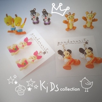 {kids collection : cartoon earring} by pandorarita