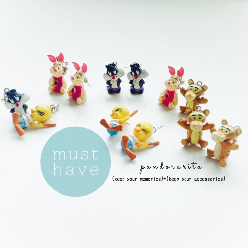 {kids collection : cartoon earring} large image 1 by pandorarita
