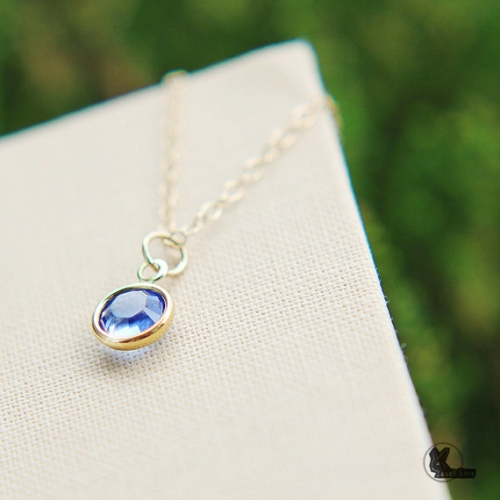 สร้อยคอ Swarovski crystal Birthstone large image 0 by Zanallshop