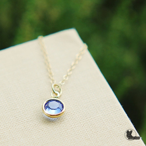 สร้อยคอ Swarovski crystal Birthstone large image 1 by Zanallshop