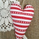 Heart Hanging {striped}