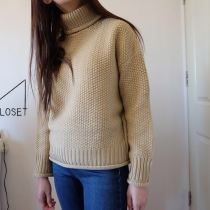 Nude turtleneck sweater [coffee] at Blisby