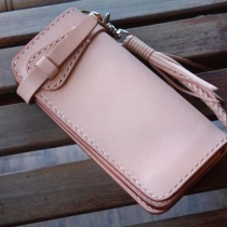 Long Wallet Veg. Tanned English Leather  at Blisby