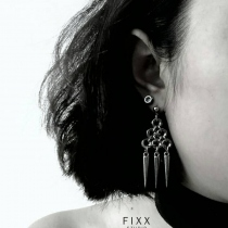3-SPIKE EARRINGS  at Blisby