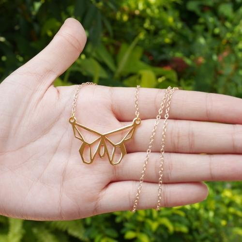 Glorikami Butterfly Origami Necklace large image 0 by glorikami
