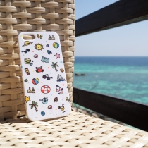 เคส iPhone 5/5s Summer Collection (สีขาว) at Blisby