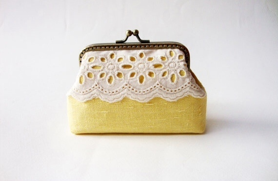 Lace Card Holder กระเป๋าใส่นามบัตร สีเหลือง large image 0 by TunyTinyTreats