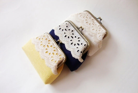 Lace Card Holder กระเป๋าใส่นามบัตร สีเหลือง large image 2 by TunyTinyTreats