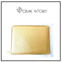 Saffiano Gold Clutch by SOME STORY at Blisby