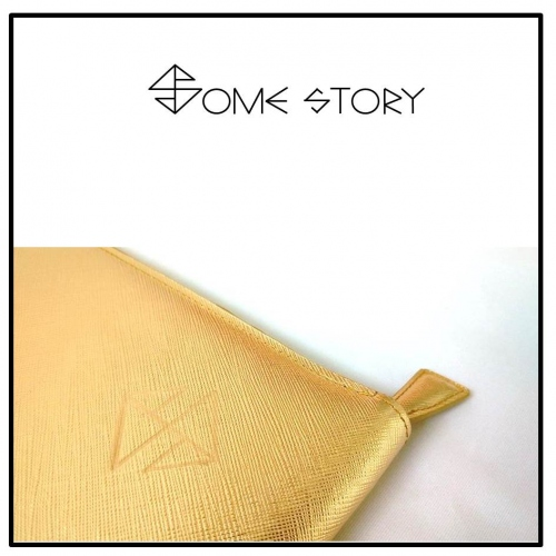 Saffiano Gold Clutch by SOME STORY large image 1 by somestory