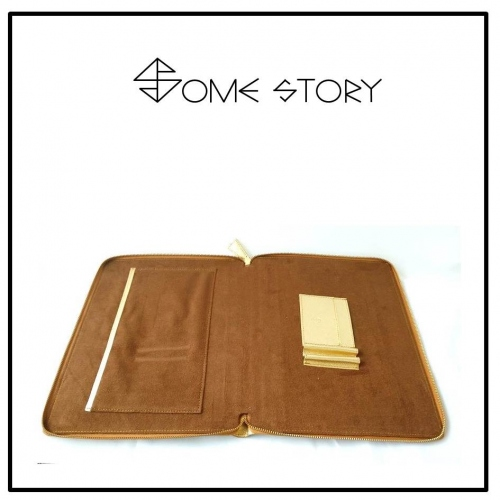 Saffiano Gold Clutch by SOME STORY large image 2 by somestory