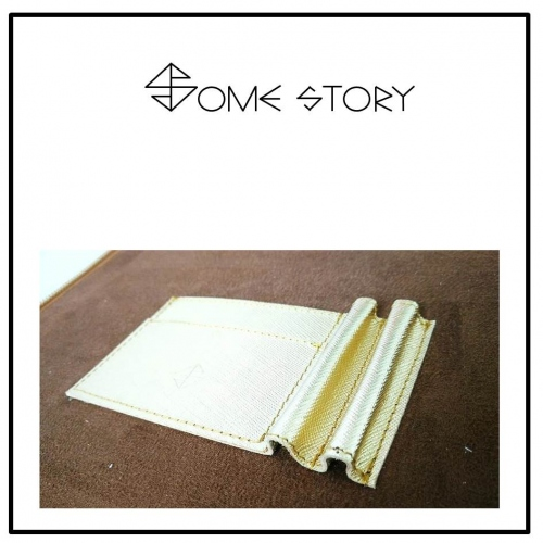 Saffiano Gold Clutch by SOME STORY large image 3 by somestory