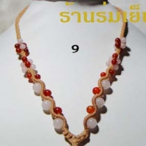 สร้อยคอ * 9 * Rose Quartz + Carnelian at Blisby