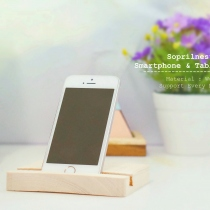 Wood Smartphone and Tablet Stand at Blisby