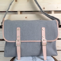 Cotton Canvas Messenger Bag  at Blisby