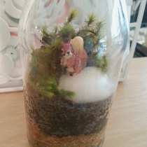 Fluffy Squirrel : Small Size Terrarium at Blisby