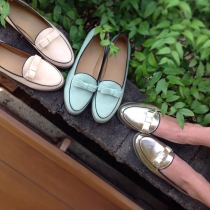 Flat Shoe : Beige,Gold,Mint at Blisby