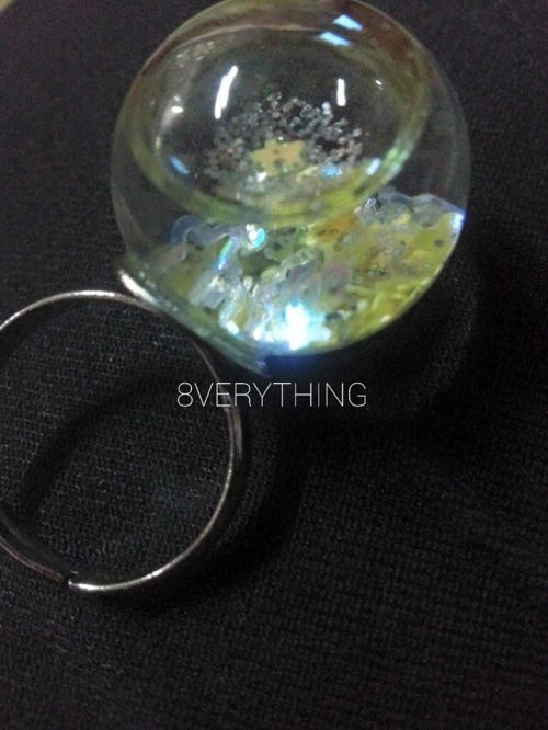 Glitter Snow Globe Ring-G2 large image 0 by 8VERYTHING