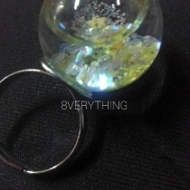 Glitter Snow Globe Ring-G2 at Blisby