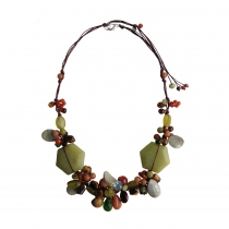Sweet Golden Dewdrop Handmade Natural Stone Necklace at Blisby