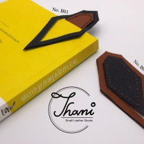 Leather bookmark ที่คั่นหนังสือ No.B01-02 at Blisby