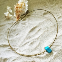Simple Turquoise Chocker at Blisby