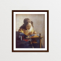 The Lacemaker  by Johannes Vermeer (ภาพพิมพ์) at Blisby
