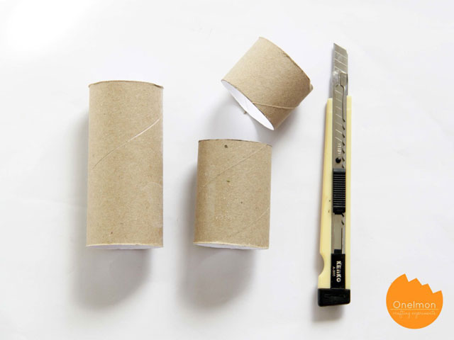 how to make a toilet roll pencil holder