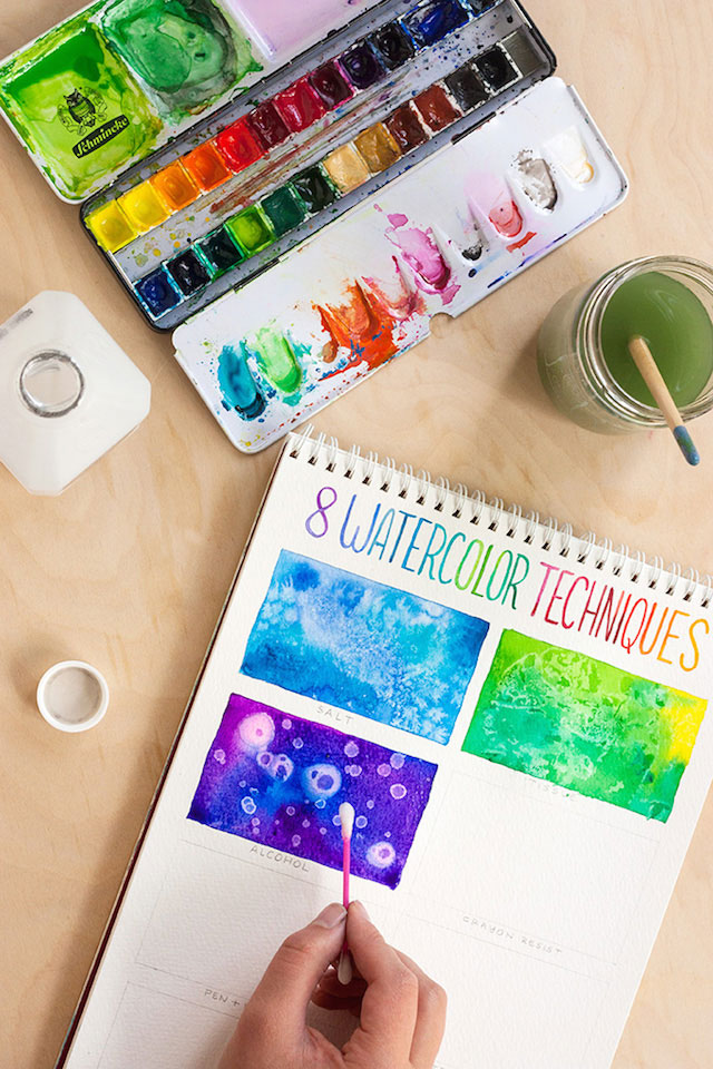 8 for Cool watercolor tricks